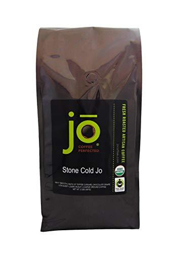 STONE COLD JO: 2 lb, Cold Brew Coffee Blend, Dark Roast, Coarse Ground Organic Coffee, Silky, Smooth, Low Acidity, USDA Certified Organic, Fair Trade Certified, NON-GMO