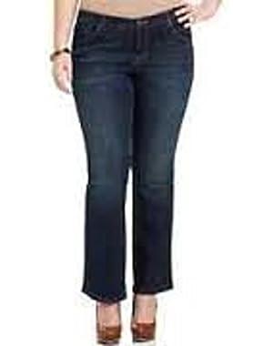Jessica Simpson Womens Uptown Slim Flare-Leg Jeans Freesia 25