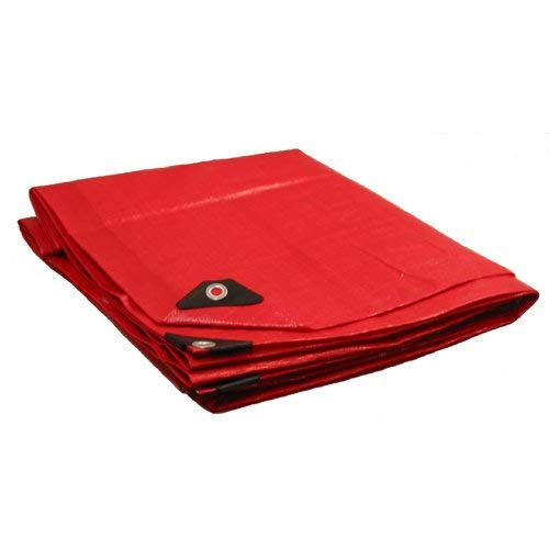 10' x 20' Heavy Duty Premium Red Poly Tarp 12 Mil Thickness