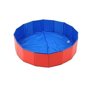 80x20cm Foldable Dog Bathing Tub Pool Cat Pet Bathtub Collapsible Pet Spa Swimming Pool