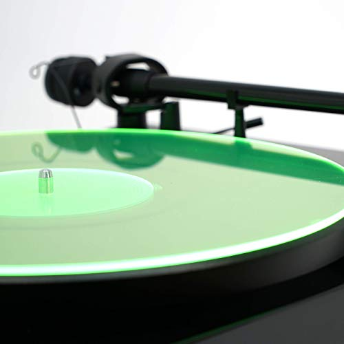 Acrylic Turntable Mat | GreenLit | LP Slipmat