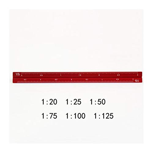 Ownstyle Architectural Engineers Triangular Scale 15 cm Metric Metal Triangular Scale Ruler (Red, Small Proportion) by Ownstyle (Image #2)
