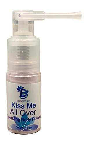 Kiss Me All Over Scented Shimmering Body Powder With Cool Powder Spray Nozzle, By Diva Stuff