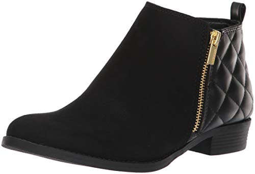 Nine West Girls' Cahra Zip Ankle Boot, Black, M050 M US Little Kid