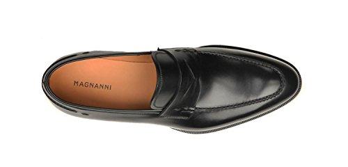 Magnanni Men's Tevio Slip-On Loafer,Black,9.5 M US
