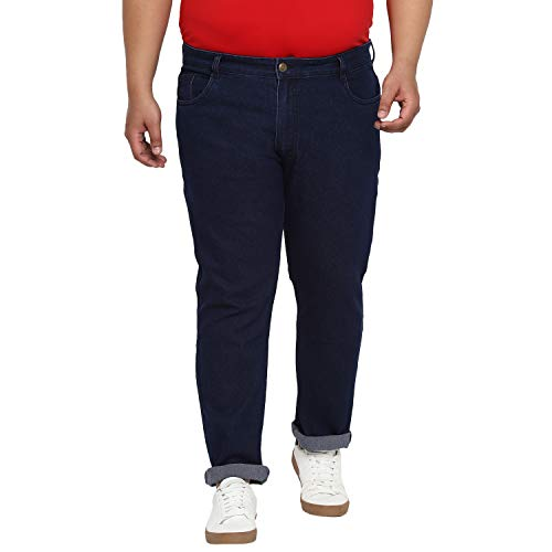 Urbano Plus Men's Dark Blue Regular Fit Denim Jeans Stretchable