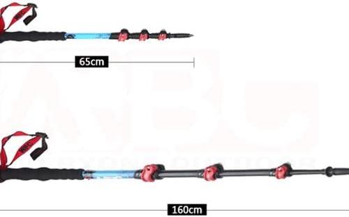 FWDS Outer Lock Trekking Pole M150Q Ultra Light Carbon Fiber Rod Photography Stick Camera monopod lengthening Length 160CM can do The Sky Curtain Pole do monopod 4 Section