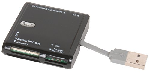 Sunpak - Usb 2.0 72-in-1 Card Reader - Black