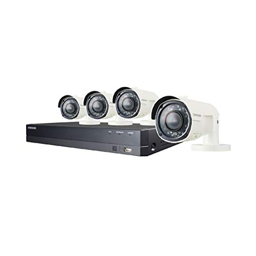 Samsung Wisenet SDH-B84041BV 8 Channel Super HD DVR Video Security System with 1TB Hard Drive and 4 1080p Varifocal Bullet Cameras (SDC-9443BV)