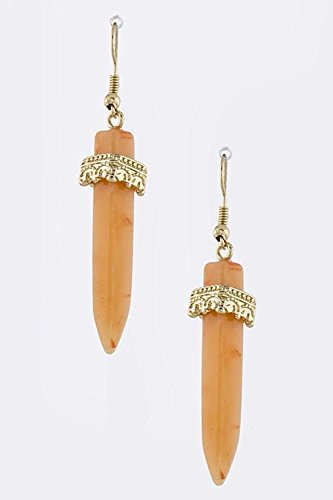 KARMAS CANVAS ANGULAR STONE EARRINGS (Orange) ()