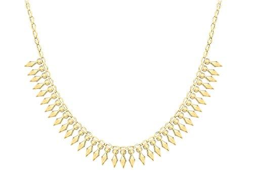 Collier Style Cléopâtre Or jaune 9carats-43cm/17'