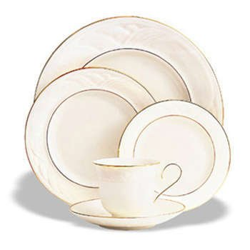 Lenox Golden Sand Dune Gold Banded Ivory China Salad Plate