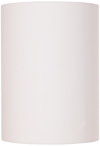 White Cotton Small Drum Cylinder Shade 8x8x11 (Spider)