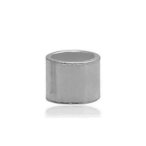 925 Sterling Silver Cylindrical Tube Crimp Bead Small Crimp Spacer Bracelet Making Jewelry (2×2×1.2mm, platina plated)