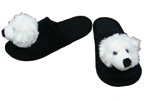 Hausschuhe Plüsch Pantoffeln  Eisbär  Gr. 38-40