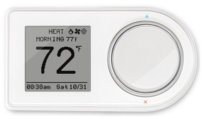 Lux Products GEO-BL-003 Wi-Fi Thermostat, Black