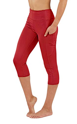 Fit Division Women's Yoga Pants Power Flex Dry-Fit Workuot Leggings with Side Pockets Soled Color (M fit 6-8, FD25/CR-CRM) ()
