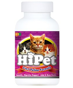 Hipet Feline 3 in 1 Formula – All Natural Mushroom Multi-functional Beta Glucan Supplement for Cats, My Pet Supplies