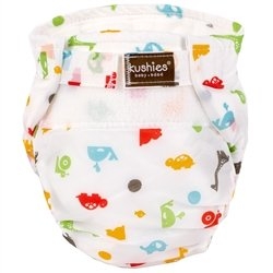 Kushies Ultra Lite All in One Diapers - Toddler - Animals Wh