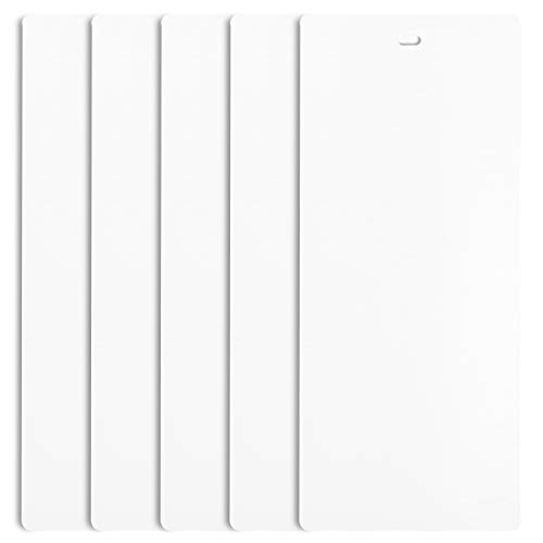 DALIX PVC Vertical Blind Replacement Slats Curved Smooth White 94.5 x 3.5 (5-Pack)
