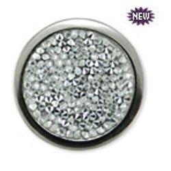 Bonjoc Ball Marker & Hat Clip - Crystal Rocks (White)