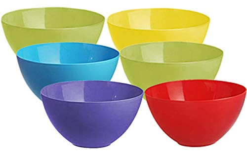 Kuber Industries Plastic Microwave Safe 6 Pieces Mixing Bowl Set- 1000 ML (Multi) – CTKTC037572 Price & Reviews