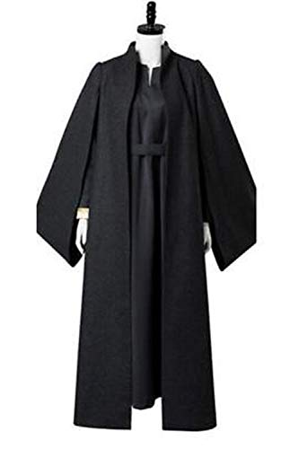 GOTEDDY Women Halloween Leia Cosplay Costume Tunic Robe Woolen Outfit (M) ()