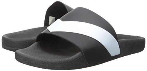 Diesel Hombres Negro Aloha Sa-Maral Slide Flip Flops blanco