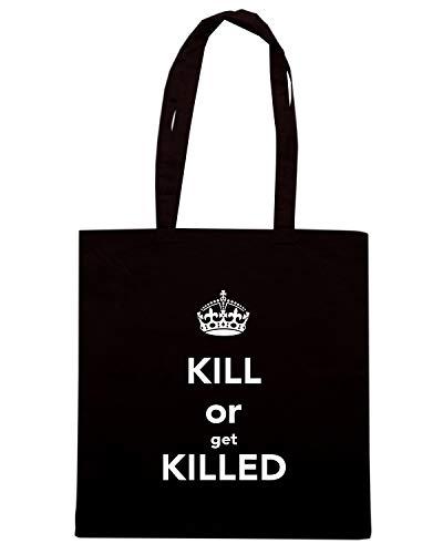 Borsa Shopper Nera TKC0199 KEEP CALM AND KILL OR GET KILLED