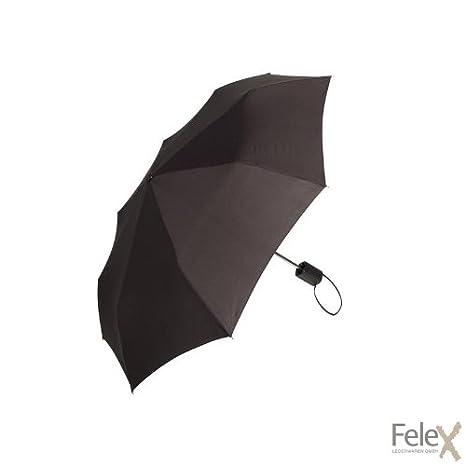 Wenger Paraguas plegable Reiseregenschirm mit Komfortgriff, WE1820BK