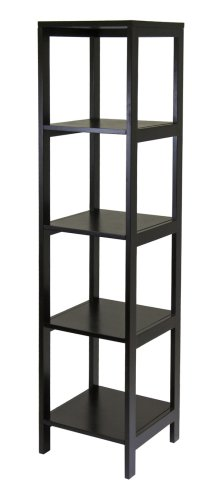 Winsome Wood Hailey 5-Tier Shelf Tower