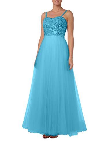 Abendkleider Pailletten Linie Prinzess Traeger Tuell La Blau Rock Brautmutterkleider Braut Marie spaghettii Promkleider A PnIHzZqX