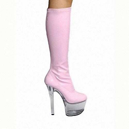 15 super lacquer the 35 and in leather high centimeter high skin Pink boots rR5Bwrq