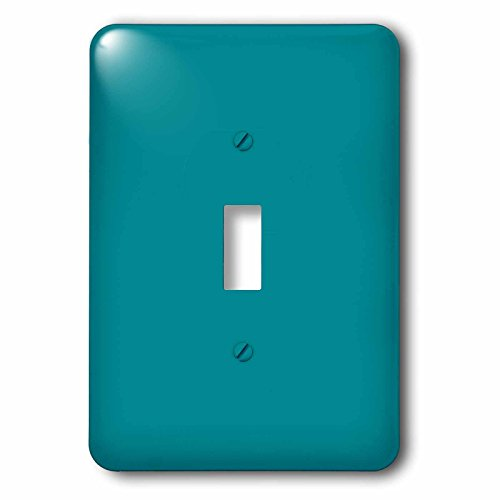 3dRose lsp_159850_1 Plain Teal Blue Simple Modern Contemporary Solid One Single Color Turquoise Blue-Green Single Toggle Switch
