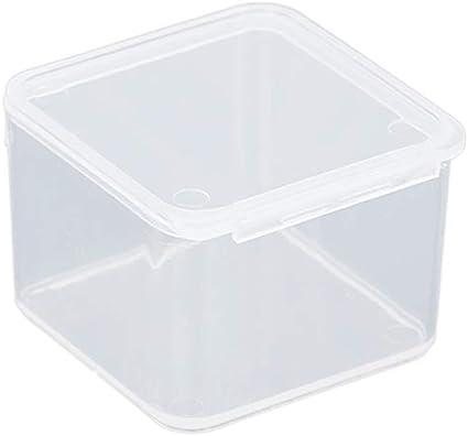 Monland Peque?as Cajas Cuadradas De Plástico Transparente, Caja De Almacenamiento De Embalaje, Con Tapa Para Joyero Accesorios Caja De Acabado Caja De Herramientas De Piezas De Hardware: Amazon.es: Belleza