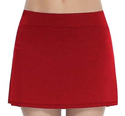 Women's Workout Active Skorts Sports Tennis Golf Skirt Built-in Shorts …
