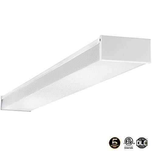 LED Wraparound Light 4FT 40W,LED Shop Light in for Garage,Diamond Cover,5000K Day Light White, 4800 Lumens, Damp Rated, 110-277V, Diamond Cover, CRI80, ETL Listed, Estar Listed, 50K 1-Pack -
