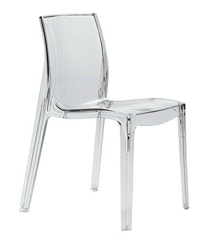 GRAND SOLEIL Grandsoleil su sedia impilabile Femme fatale trasparente, in policarbonato, trasparente, 54x 53x 80.5cm S6317TR