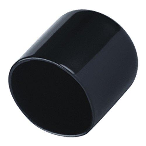 1 Inch Round Black Vinyl End Cap 10 Pack Flexible Pipe Post Rubber Cover