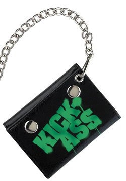 KickAss Mezco Toyz Chain Wallet Green Logo