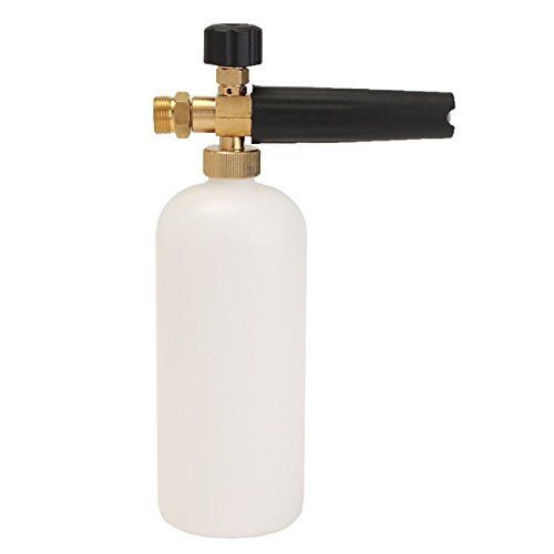 1L Adjustable Snow Foam Lance Wash Gun Soap Pressure Washer Bottle Thread 22mm by Ologymart