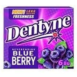 Dentyne Blueberry Gum 18g.(pack of 6)