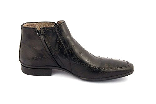 Bagatto Black Leather Italian Designer Formal Boots (40EU/6US)