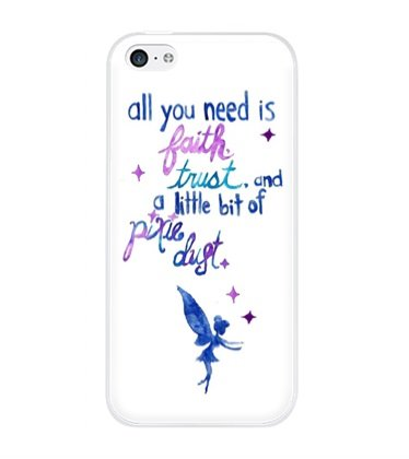 DECO FAIRY® All you need is faith and trust and a little bit of pixie dust - Peter Pan snap on Case Cover for Apple iPhone 6 (4.7