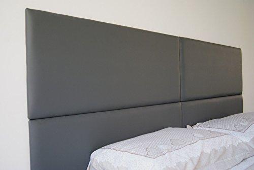 Ponti divani pannello imbottito in ecopelle o tessuto per testiera letto puzzle 41x100 - Testiera letto a muro ...