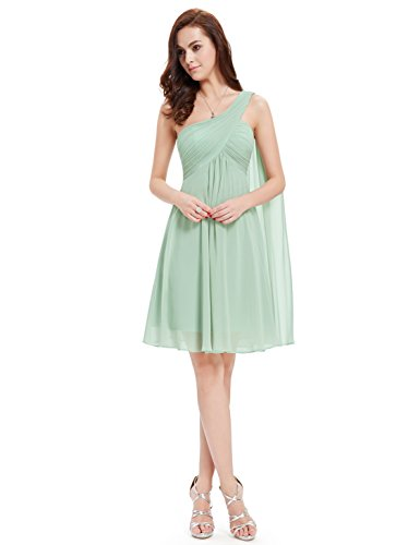 Ever Pretty NWT One Shoulder Ruffles Padded Bridesmaid Dress 03537