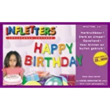 infletters inflatable letters boxed set happy birthday by inflatable letters