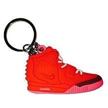 Nike Red Pink Yeezy 2 2D Flat Sneaker Keychain