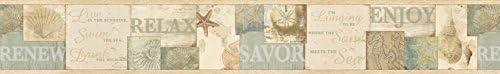 Brewster dlr53512b SagamoreベージュケープコッドBorder壁紙、 ベージュ 3919521 1