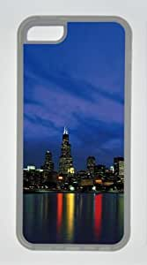 Chicago City 001 Iphone 5C Rubber Shell with Transparent Edges Cover Case by Lilyshouse